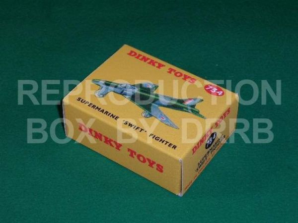 Dinky #734 Supermarine Swift Fighter - Reproduction Box